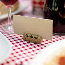 Place Card Holders: Cork Card Holder