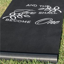 Two Shall Become One - Black - Aisle Runner
