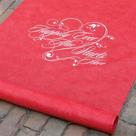 Happily Ever After - Red - Aisle Runner