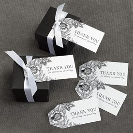 White Vintage Floral Favor Tags
