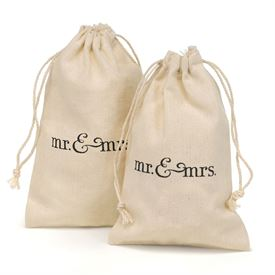 Mr. & Mrs. Cotton Favor Bags