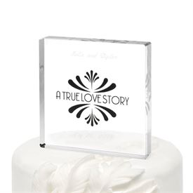 Love Story Cake Top