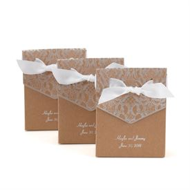 Naturally Vintage Tent Favor Boxes