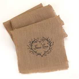 True Love - Burlap Table Runner