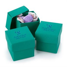 Emerald Two-Piece Favor Boxes