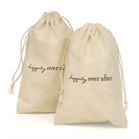Happily Ever After - Cotton Favor Bags