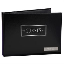 Wedding Guest Books and Pen Sets: Black Guest Book