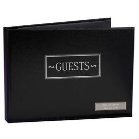 Reception Accessories: Black Guest Book