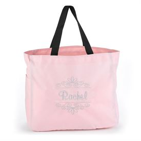 Pink Flourish Tote Bag