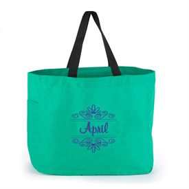 Green Flourish Tote Bag