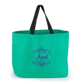 Green Flourish Tote Bag
