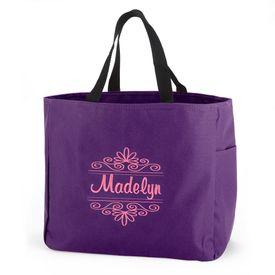 Purple Flourish Tote Bag