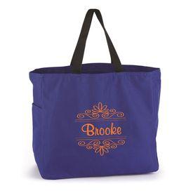 Blue Flourish Tote Bag