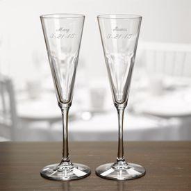 Wedding Toasting Flutes: Modern Flare Flutes