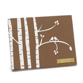 Wedding Guest Books and Pen Sets: Birch Trees Guest Book