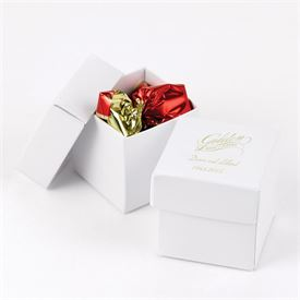 White Shimmer Two-Piece Favor Boxes
