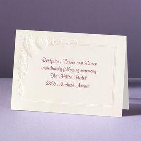 Romance at Full Bloom - Reception Card