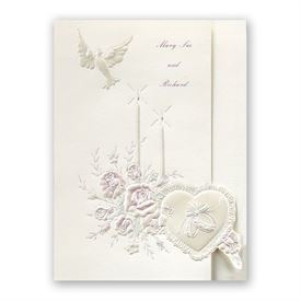 Pearl Wedding Invitations: Candlelight Invitation
