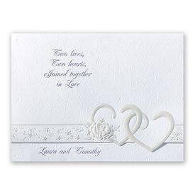 Pearl Wedding Invitations: Hearts Desire Invitation