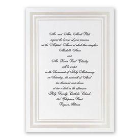 Pearl Wedding Invitations: Elegant Pearl Borders Invitation
