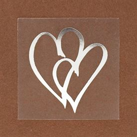 Wedding Envelope Seals: Non personalized Silver Hearts Seal