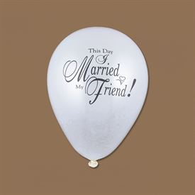 This Day I Married My Friend White Balloon