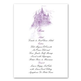 Happily Ever After - Menu Card
