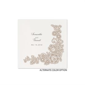 Lacy Corners - White -Cocktail Napkin