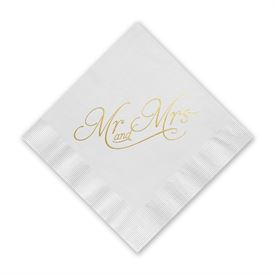 Happy Couple - Gold Foil Cocktail Napkin