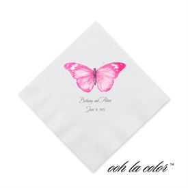 Butterfly in Lipstick - Cocktail Napkin