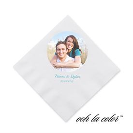 Photo Wedding Napkins: 