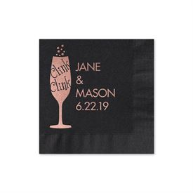 Clink Clink - Black - Foil Cocktail Napkin