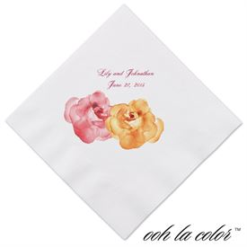 Heavenly Watercolor - Malibu - Dinner Napkin