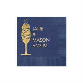 Clink Clink - Navy - Foil Cocktail Napkin