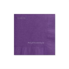Simple Details - Purple - Foil Cocktail Napkin