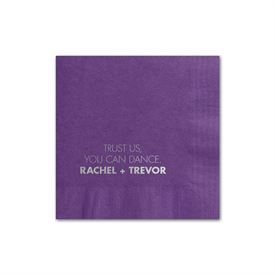 Your Words - Purple - Foil Cocktail Napkin