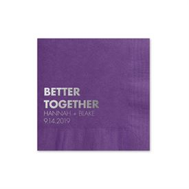 Custom Look - Purple - Foil Cocktail Napkin
