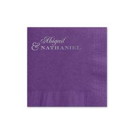 Beautiful Names - Purple - Foil Cocktail Napkin