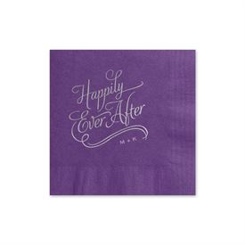 Happily Ever After Foil Cocktail Napkin