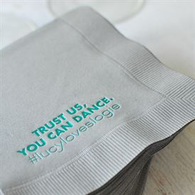 Your Words - Pewter - Foil Cocktail Napkin