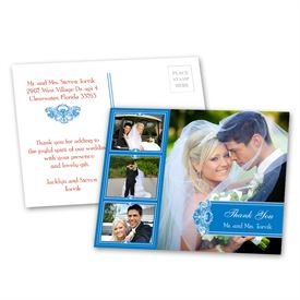 Photo Delight - Blue - Thank You Postcard