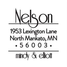 Funky Font Address Stamp