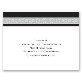Band of Silver - Ebony - Reception Card