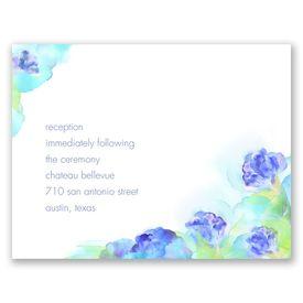 Beauty in Blue - Reception Card
