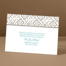 Antique Details - Chocolate - Reception Card