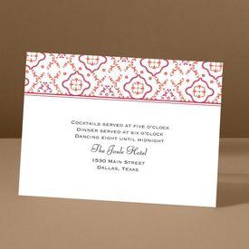 Antique Details - Tango - Reception Card