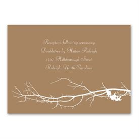 Boughs and Branches - Reception Card