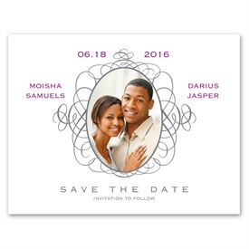 Antique Frame - Photo Save the Date Card