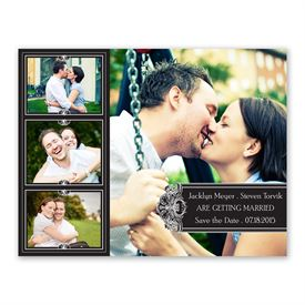 Photo Delight - Ebony - Photo Save the Date Card