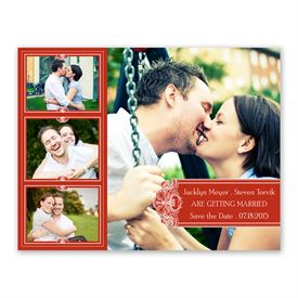 Photo Delight - Scarlet - Photo Save the Date Card